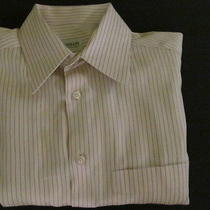 Pink Stripe Armani Collezioni 100% Cotton Nice Mens Dress Shirt-15 1/2 X 33  Photo
