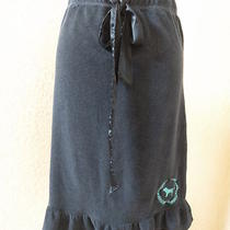 Pink Terry Skirt  Size S Xs  Victorias Secret Navy Blue Aqua Letters Rufled Hem Photo