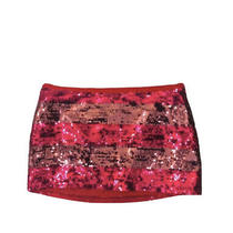 Pink Victorias Secret Mini Sequins Skirt Size S Red Striped Photo