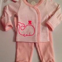 Pink Whalejust One You by Carter's 3pc Set-Preemie Photo