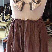 Pinkerton Anthropologie Taupe Brown Baby Doll Mini Dress Casual S M Photo
