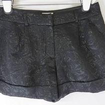 Pins and Needles Urban Outfitters Black Textured Shine Formal Shorts 4 Photo