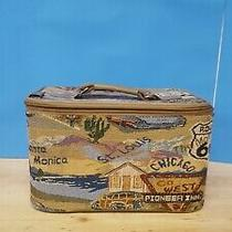 Pioneer Express Route 66 Tapestry Suitcase.  12 X 7 X 8 In. in Great Condition.  Photo