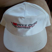 Pitt Ohio Express Truck Drivers Cap White Snap Adjustible 1 Size Fits All Photo