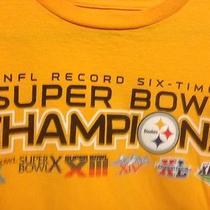 Pittsburgh Steelers 6 Time Sb Champions Size M Reebok T-Shirt Photo
