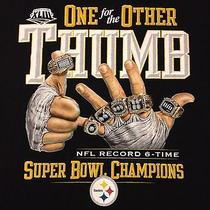 Pittsburgh Steelers One for the Other Thumb Super Bowl Champions T-Shirt-Large Photo