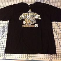 Pittsburgh Steelers Super Bowl Xl Champions Nfl Reebok Size Xl Black T-Shirt Photo