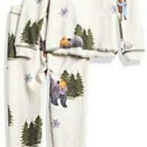 Pj Salvage Kids Kids' Sleepwear Long Sleeve Top and Bottom Stone Size 0.0 E17c Photo