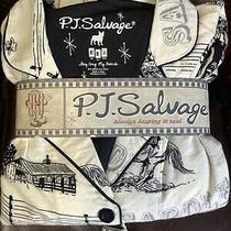 Pj Salvage M Medium Western Flannel Pajama Pant Set New in Box W/ Tags Cozy Photo
