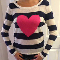 Pj Salvage Queen of Hearts Heart Sweater M  Photo