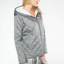 Pj Salvage Sleigh All Day Quilted Jacket M Grey Photo