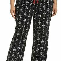 Pj Salvage Snowflake Thermal Pajama Pants Lounge Pj's Black Size 2x or 3x New Photo