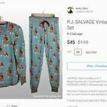 Pj Salvage Sock Monkey Pajamas Small/.xsmal Photo