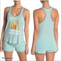Pj Salvage Tequila Sunrise Teal Tank Top Photo