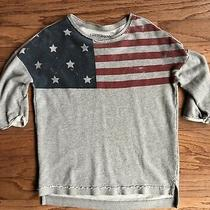 Pj Salvage Womens Medium Grey Usa Sweatshirt or Sleep Top Only 4th of July Photo