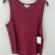 Pj Salvage Womens Size Xl Xlarge Sleeveless Sleep Tank Red  Photo
