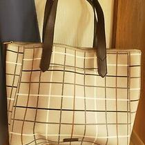 Plaid Fossil Brand Tote Bag Purse Large Capacity Great Condition  Photo