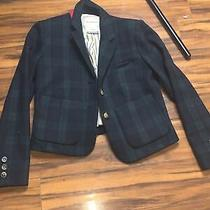 Plaid Wool Jacket Short Coat Lined Cartonnier Anthropologie Women's Size 2 Photo