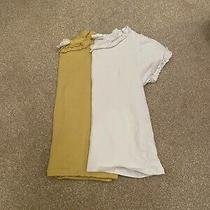 Plain T-Shirts h&m Baby Girls White Mustard Yellow 12-18 Months Photo