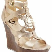 Platform Strappy Wedge Sandals G by Guess Dodge Gold Photo