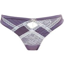 Pleasure State Transcendent Thong Size Large Vintage Violet/ivory Photo