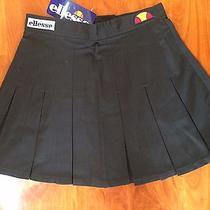 Pleated Tennis Skirt Black American Apparel Ellesee Vintage S Xs Size 6 Eur 40 Photo