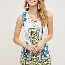 Plenty by Tracy Reese Anthropologie Tybee Shift Dress Blue White Womens Small Photo