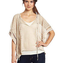 Plenty by Tracy Reese  Crochet Lace Easy Tie Neck Sweater Pale Clover Nwt P/s Photo