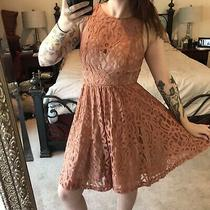 Plenty by Tracy Reese Holiday Dress From Anthropologie Size 8 Gold Shimmer Lace Photo