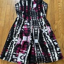 Plenty by Tracy Reese Multiprint Pleated Dress Sz 8 Exc Condition Photo
