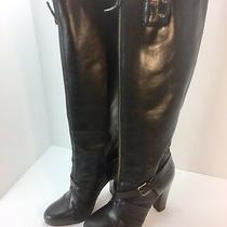 Plenty by Tracy Reese Womens Leather Boots Tall Size 38.5 Us 8 Black  Photo