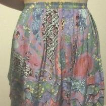 Plenty Tracy Reese 100% Silk Pleated Mini Skirt Size 10 Photo