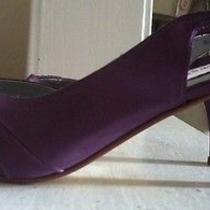 Plum Satin Purple Pumps Photo