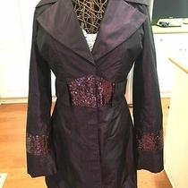 Plum/wine Colored Coat by Arden B With Sequins - Size S Photo