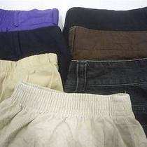 Plus Size Lot of 7 Womens Nice Casual Pants Slacks Xl 14/16 Talbots and Others Photo