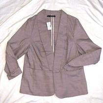 Plus Size Maurices Blush Nude Rose Gold Pink Linen Blazer Jacket Size 1x Photo