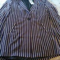 Plus Size Torrid Longline 4 Stripe Purple Blazer Jacket Size 0 12 14 Nwt Photo