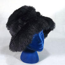 Plush 60s-70s Tuscan Lamb Vintage Black Fur Hat Photo