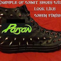 Poison Metal Punk Rock Custom Studded Converse Chuck Shirt Sneakers Shoes Spikes Photo