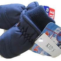 Polar Express Kid's Navy Blue Gloves Water Proof 40 Size Childs 4-7 Thinsulate  Photo