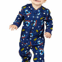 Polar Express Kids Believe One Piece Pajama Sleeper Blue 12m Photo