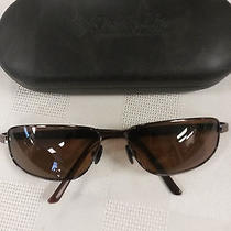 Polarized Columbia Sunglasses Brown Stainless Steel W/spring Hinges & Orig Case Photo