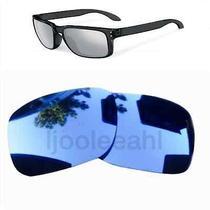 Polarized Replacement Lenses for Oakley Holbrook Sunglasses Black Iridium Grey Photo