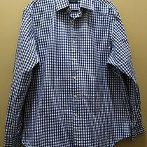 Polo by Ralph Lauren Blue White Gingham Plaid Button Down Shirt Euc Sz 17 34/35 Photo