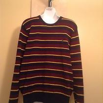 Polo by Ralph Lauren Mens 100% Lambs Wool Multicolor Striped Sweater Large Photo