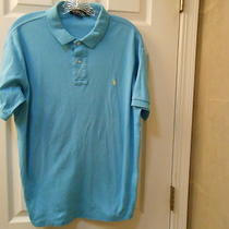Polo by Ralph Lauren Size Xl Short Slleve Aqua With Yellow Pony Photo
