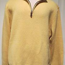 Polo by Ralph Loren 100% Lamb's Wool Long Sleeve 1/2 Zip Sweater in Yellow - Xl Photo