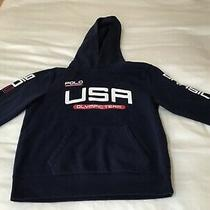 Polo Ralf Lauren Boys Hoodie Size M Excellent Condition Usa Olympic Team Photo