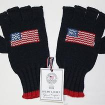 Polo Ralph Lauren 2014 Olympic Team Usa  Fingerless Gloves Sochi Olympics L Xl Photo