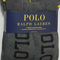 Polo Ralph Lauren Athletic 6-Pair Crew Socks  Gray  Photo